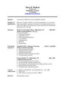 resume sle template 2015 resume medical assistant sle resume the best letter sle