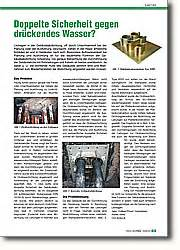 Abdichtung Gegen Drückendes Wasser : doppelte sicherheit gegen dr ckendes wasser fachjournal ~ Orissabook.com Haus und Dekorationen