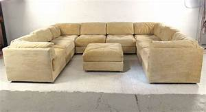 large selig sectional sofa with ottoman mid century With mid century sectional sofa for sale