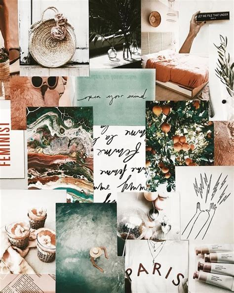 aesthetic mood board aesthetic collage creative