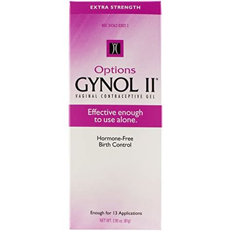 buy options gynol vaginal contraceptive jelly extra