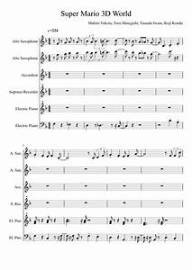 Super Mario 3D World Main Theme | Sheet music for Woodwind ...