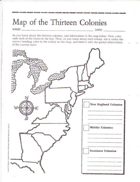 free printable 13 colonies map activities pinte
