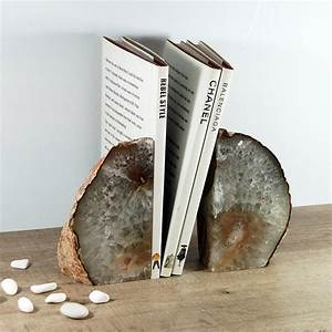 Natural, Agate, Bookends, By, Minke, And, Fin