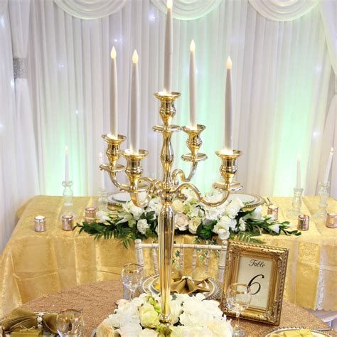 Gold Candelabra Beyond Expectations Weddings Events