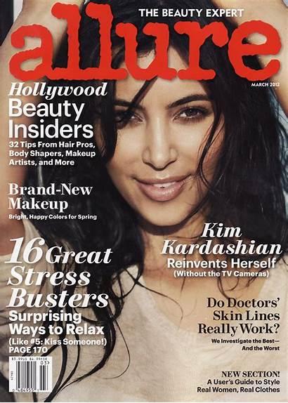 Kim Kardashian Magazine Allure March Issue