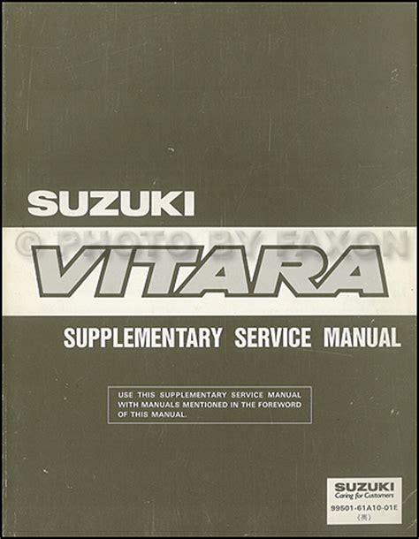free car repair manuals 1995 suzuki sidekick on board diagnostic system 1994 1995 suzuki vitara repair shop manual supplement original