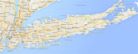 long island beaches map map  long island beaches ny