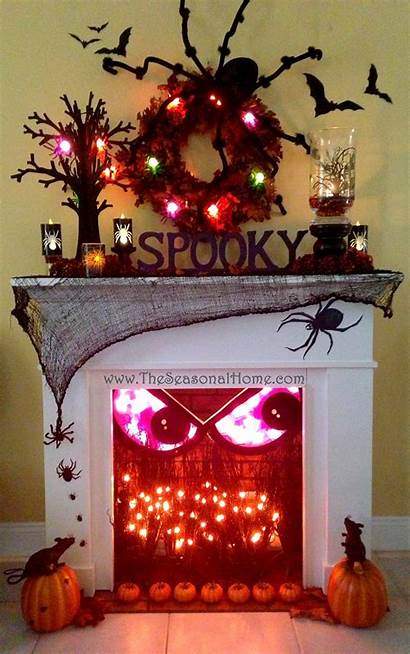 Halloween Indoor Decorations Fun Fireplace Spooky Crackles