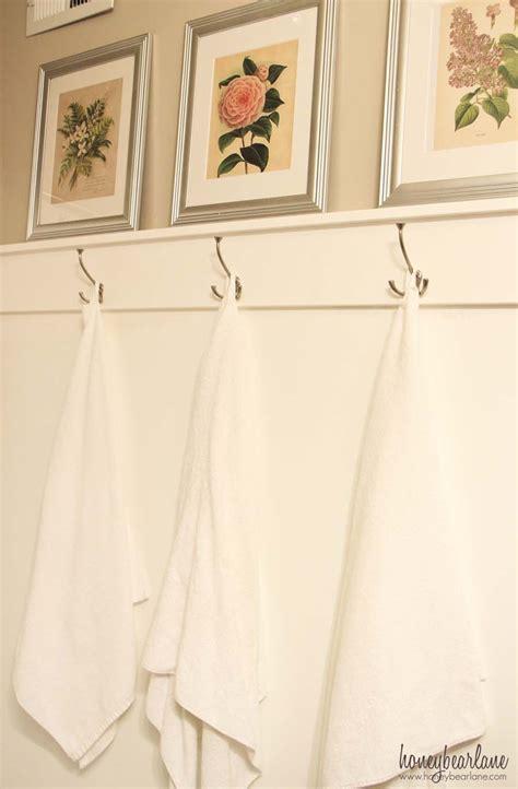 easy diy towel hooks honeybear lane