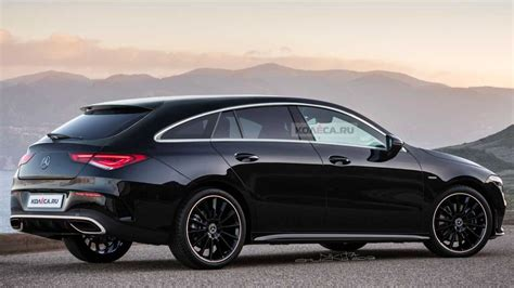 The exterior of the new cla 45. 2020 Mercedes CLA Shooting Brake Rendered As Stylish Wagon