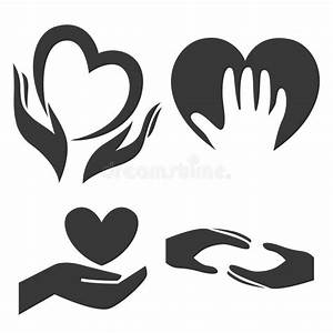 Heart In Hand Symbol, Sign, Icon, Logo Template For ...