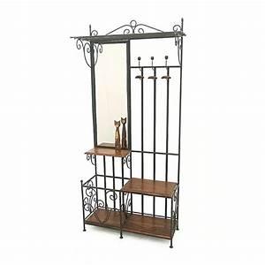 Meuble En Fer : vestiaire meuble d 39 entr e fer forg bois 5119 ~ Teatrodelosmanantiales.com Idées de Décoration