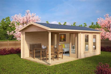 Gartenhaus Mit Terrasse Nora E 9m²  44mm 3x6