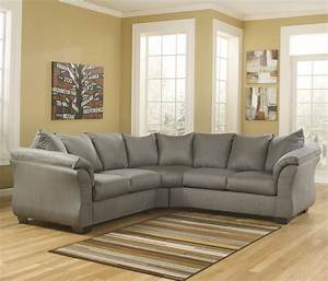 contemporary sectional sofa with sweeping pillow arms by With ashley sectional sofa