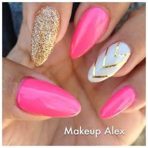 Pink stiletto nail designs to adore pretty