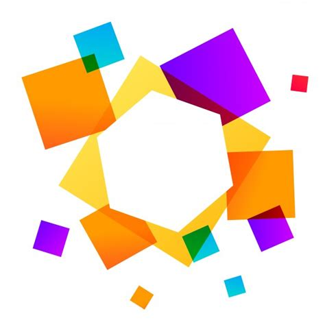 Abstract Geometric Shapes Background by Abstract Geometric Background With Colorful Square Shapes