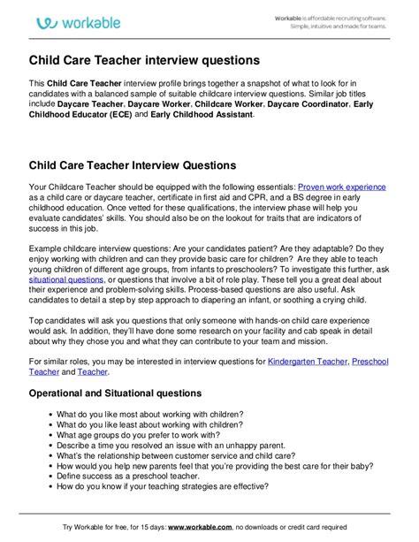 child care questions 932 | child care teacher interview questions 170607182034 thumbnail 4