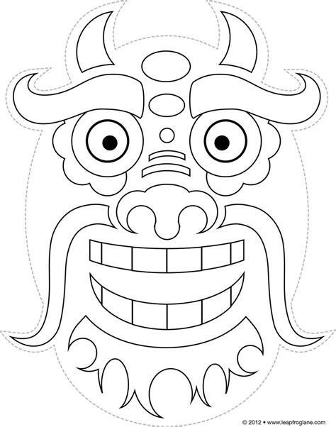 HD wallpapers dragon mask template twinkl