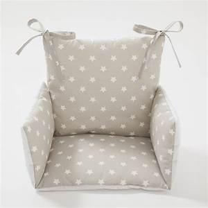 Coussin De Chaises : coussin chaise haute toiles beige cocoeko ~ Teatrodelosmanantiales.com Idées de Décoration