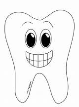 Tooth Cartoon Smiling Coloring Drawing Getdrawings sketch template
