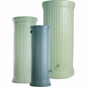 Recuperateur Eau De Pluie 1000 Litres : r cup rateur d 39 eau de pluie colonne romaine gris 1000 l ~ Premium-room.com Idées de Décoration