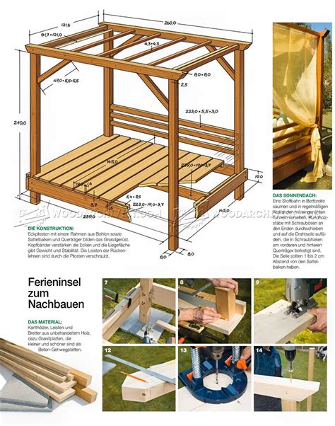 outdoor daybed plans woodarchivist