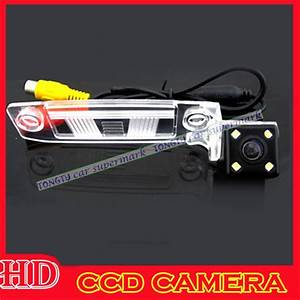 Wire Wireless Car Rear View Camera With 4 Led For Kia