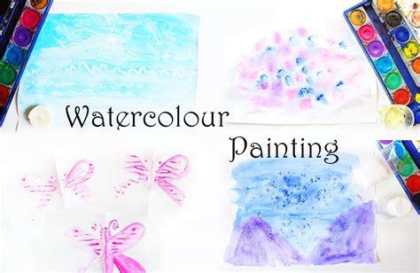 ideen zum malen mit wasserfarben fuer kinder video