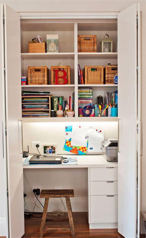 Homeschool Closet Organization Ideas by Small Apartment Design Idea Create A Home Office In A Closet
