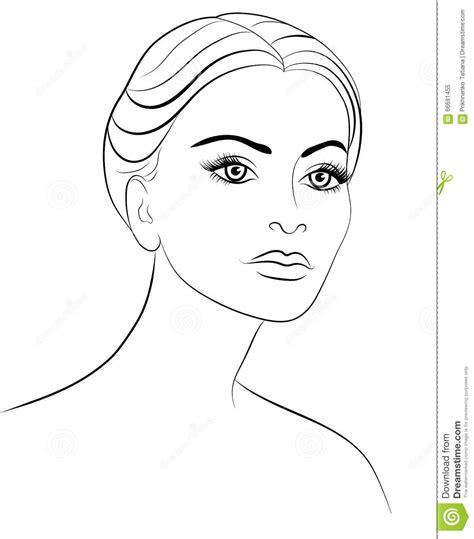 disegno di una ragazza da colorare disegno di una donna cura della pelle