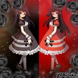 Anime twins *black&red* (c)step824 Picture #125603861 ...