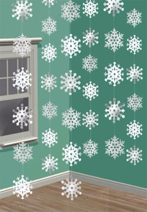 snowflake ceiling danglers frozen photo booths and