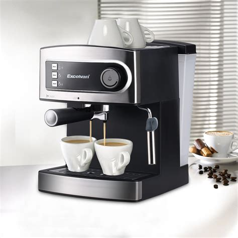 espresso coffee maker excelvan 15 bar stainless steel double espresso cappuccino coffee maker machine ebay