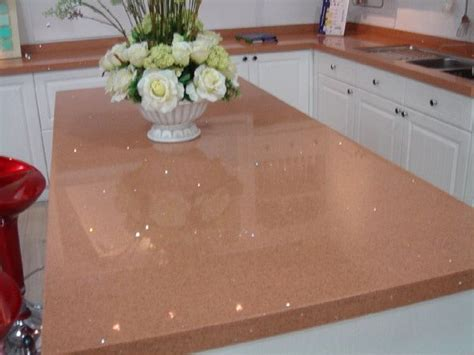 peach sparkly counters sparkly countertops countertops