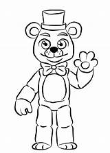 Nights Five Freddys Pages Colouring Fnaf Freddy Coloring Golden Open Again Bar Looking Case Don sketch template