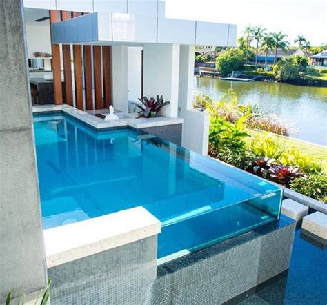 stunning glass swimming pool designs betchley realty