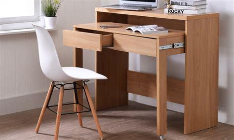 bureau console 2 tiroirs console bureau avec 2 tiroirs extensibles groupon shopping