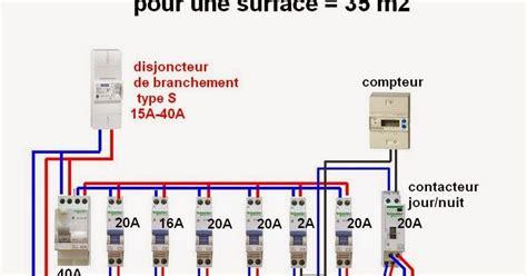branchement electrique d une le schema electrique