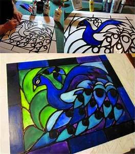 DIY Easy Faux Stained Glass - Do-It-Yourself Fun Ideas