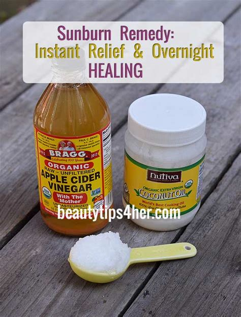 Best Thing For Sunburn Heal Sunburn Overnight With Two Simple Ingredients