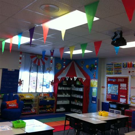 the 25 best classroom ceiling decorations ideas on 602 | 16f8e4541daca7af117e2387a884007f classroom themes circus theme classroom decorations