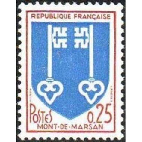bureau de poste mont de marsan timbre yvert no 1469 blason de mont de marsan