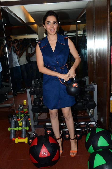 Kiara Advani Stills At Fitocratic Gym Launch Indian