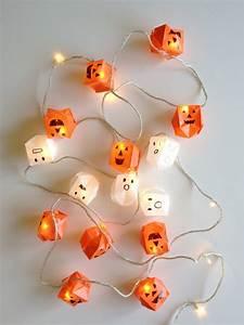Ideen Für Halloween : bastelidee fuer diy papier laterne als kreative halloween dekoration mit origami leuchten ~ Frokenaadalensverden.com Haus und Dekorationen