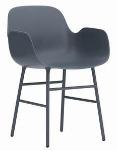 Fauteuil Pied Metal : fauteuil form pied m tal bleu normann copenhagen ~ Teatrodelosmanantiales.com Idées de Décoration