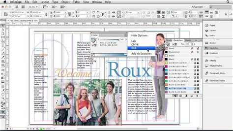 in design tutorial indesign cs6 tutorial applying color to pages lynda