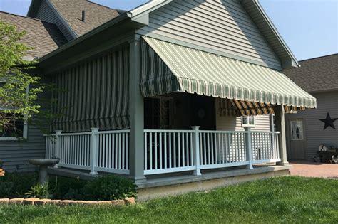 green striped porch awnings   drop curtain kreiders canvas service