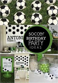 Soccer Birthday Party Decoration Ideas