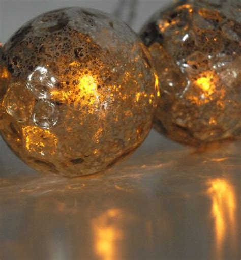 solar string lights 6 silver glass globes lights